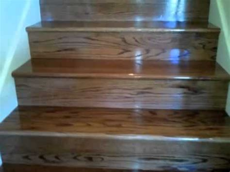 Painting Stained Wood Trim carpet stairs to stained oak stairs youtube