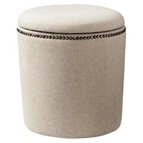 linen storage ottoman accent furniture storage ottoman linen target