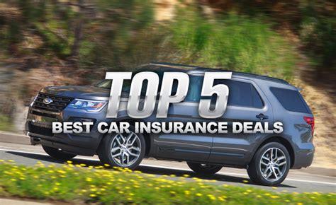 Best Car Insurance by Top 5 Best Car Insurance Deals