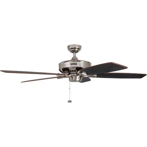 ceiling fans nickel finish honeywell birnham ceiling fan brushed nickel finish 52