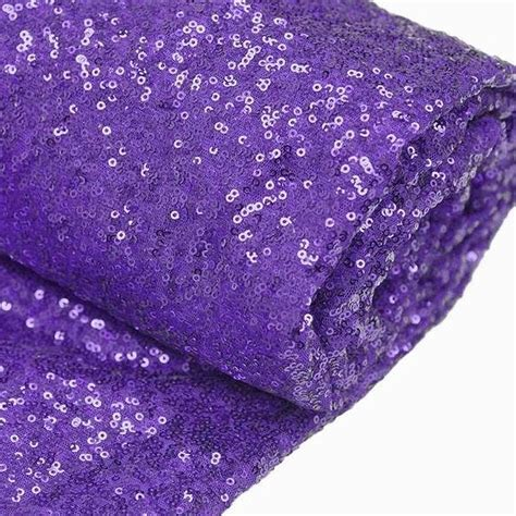 Purple 46 Fab Products by 54 Quot X 4yards Premium Sequin Fabric Bolt Purple Efavormart