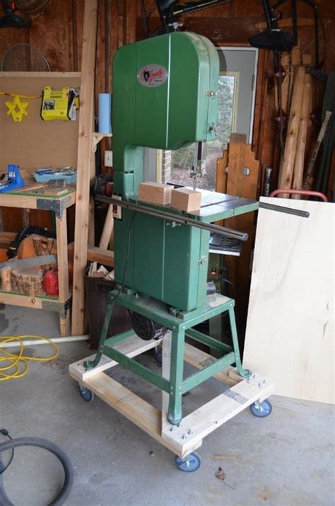Grizzly Band Saw Cart By Codenamedarkblue Lumberjocks