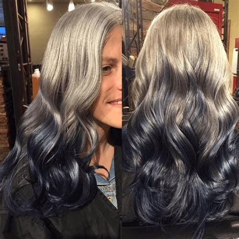 reverse hombre hairstyle to grow out grey reverse ombre 7 looks on instagram that will convince you