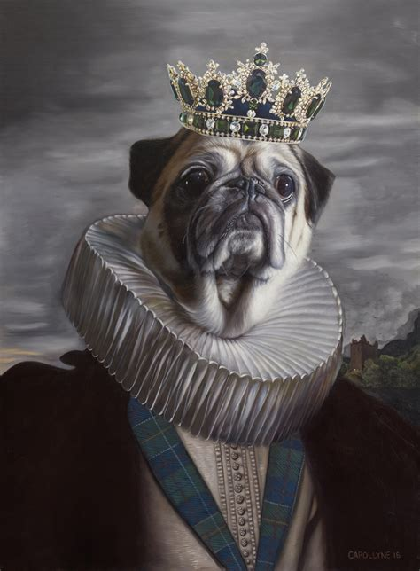 pug lord painting of lord the pug aka mr puggums the