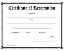 printable certificate of recognition templates free printable certificate of recognition awards certificates