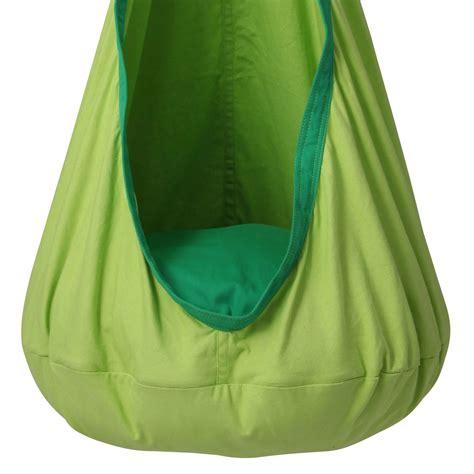 sensory hammock swing green kids sensory swing pod chair heavenly hammocks