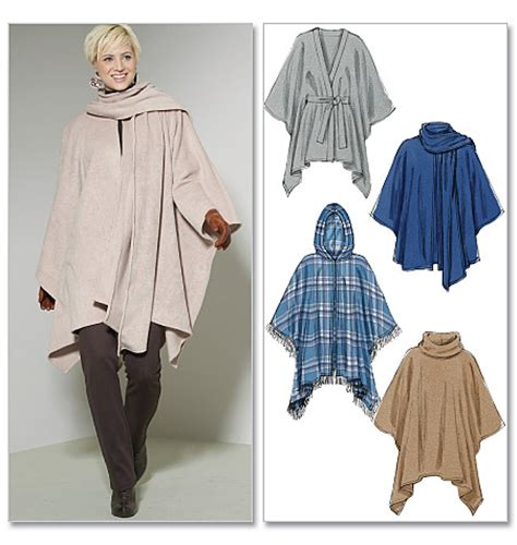 58 pattern poncho review mccall s 6209 misses ponchos and belt