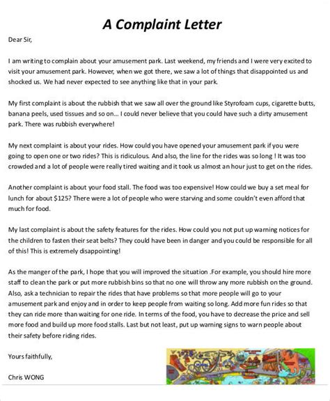 Sle Complaint Letter About A Service sle complaint letter about a food product 28 images how to write complaint letter 25 images