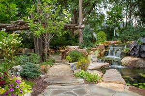 Aquascape Pondless Waterfall Tree And Waterfall Inspired Backyard Traditional