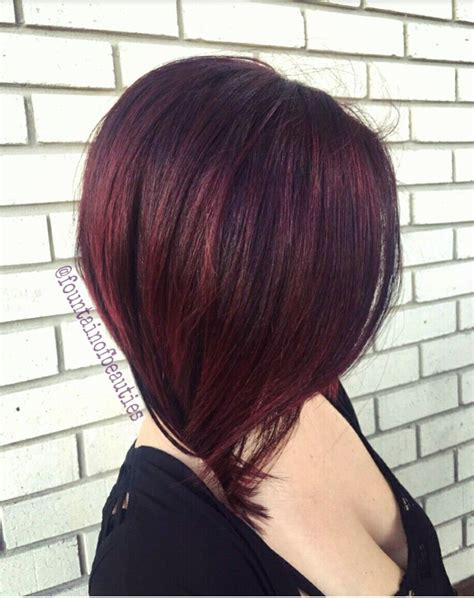 rich brown bob hair styles rich violet red lob cherry red pravana wild orchid red