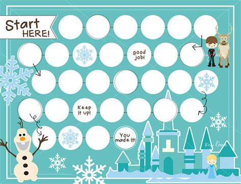 printable frozen sticker chart a printable rewards chart to get kids to do anything