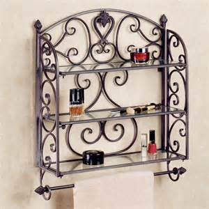 Aldabella tuscan slate wall shelf towel bar