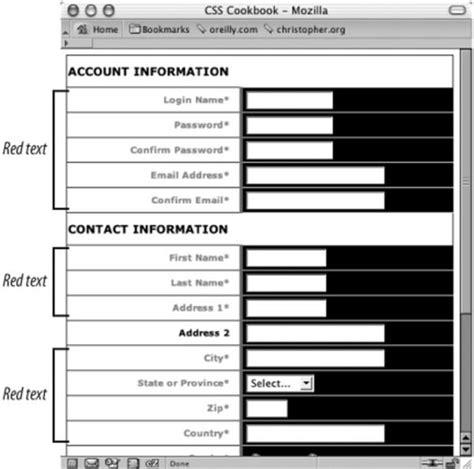 design registration form in html recipe 7 20 sle design a registration form css