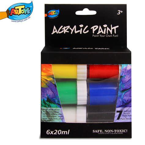 acrylic paint non toxic artoys acrylic paint set 6 paints 20ml high quality 100