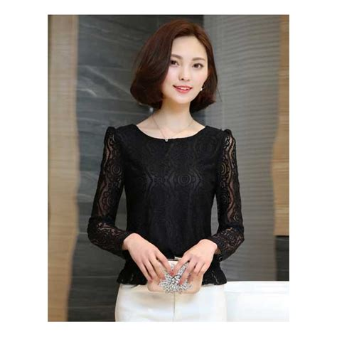 Blouse Wanita Brukat Lengan Panjang Import blouse brukat lengan panjang t3211 moro fashion