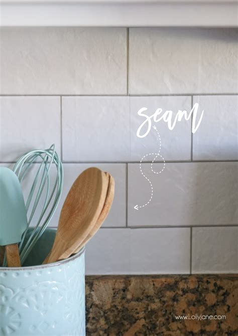 wallpaper that looks like tile for kitchen backsplash faux subway tile backsplash wallpaper