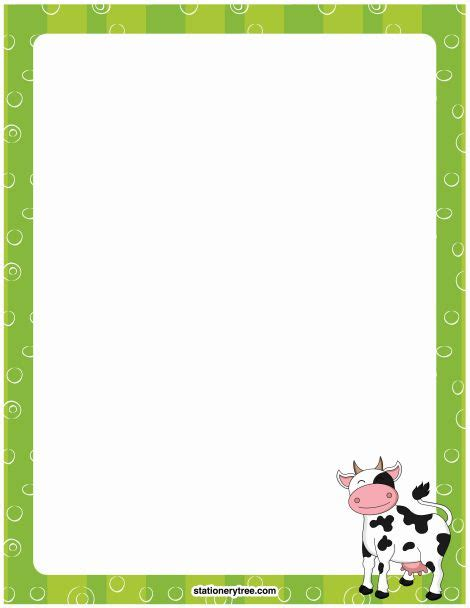 printable farm stationary printable cow stationery and writing paper free pdf