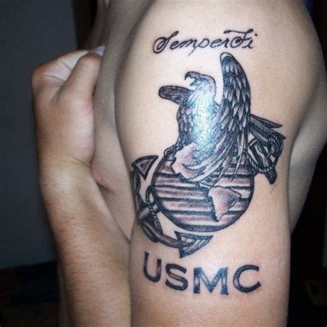 semper fi tattoos designs shining usmc
