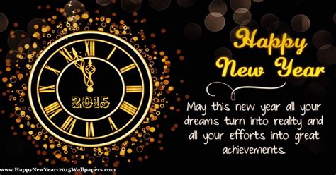 happy new year 2015 clock card hd wallpaper