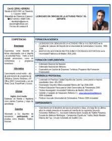 Plantilla De Curriculum Deportivo Emprendedores Deportivos Curriculum