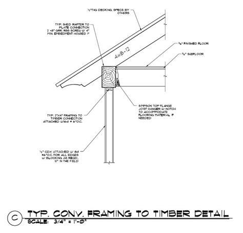 Garden Frame Kode Ss9721 1 stick framing to timber frame construction detail