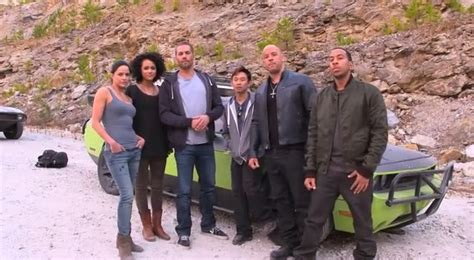 fast and furious 6 actor name list fast furious 7 cast on set reaching out for yolanda