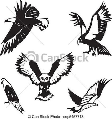 gabbiano cing vecteurs de cinq stylis 233 oiseaux proie csp5457713