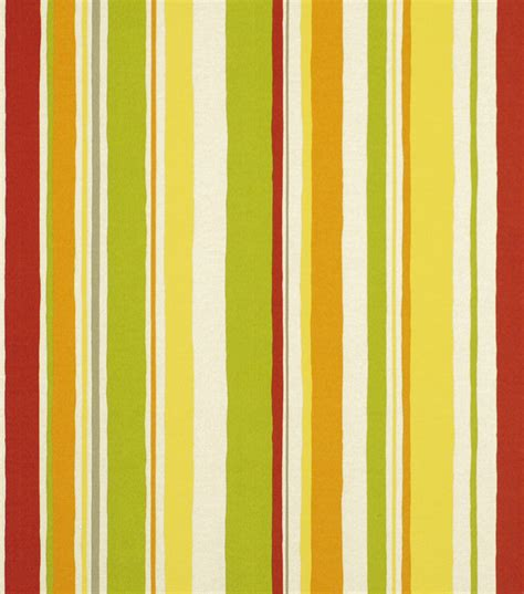 home decor print fabric robert allen baja stripe poppy