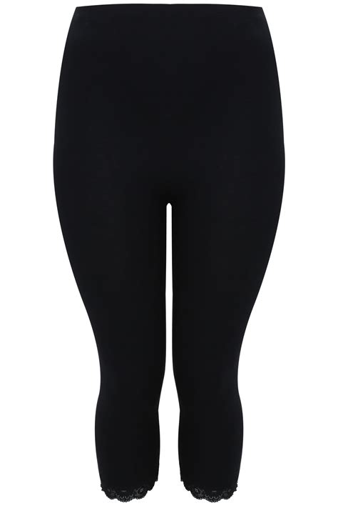 Can You Shop Online With A Visa Gift Card - black cotton elastane crop legging with lace trim plus size 16 to 32