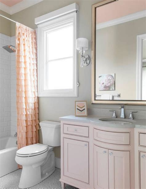 pink and grey bathroom pink and gray kid bathroom color scheme traditional