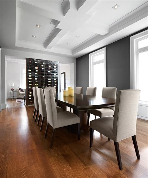 wall wine rack dining room transitional with decorative