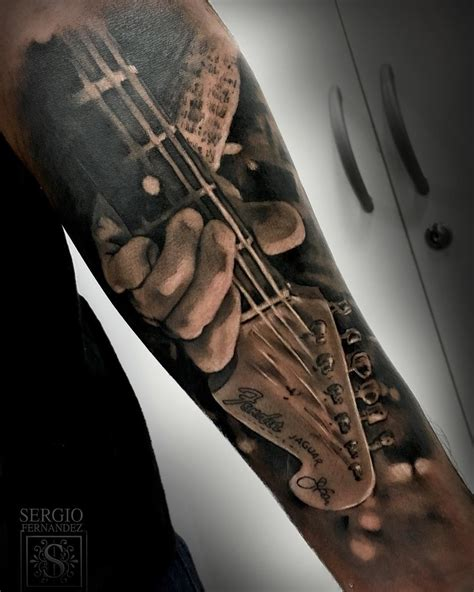 fender guitar tattoo best tattoo ideas gallery