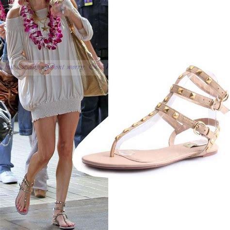 Flat Heel Gladiator Sandals 2013 studded flat sandal rivet genuine leather ankle
