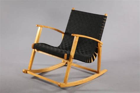 comfortable rocking chairs comfortable rocking chair attributed to jens risom 1950