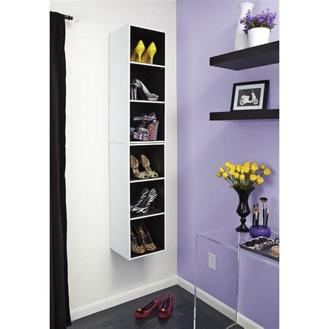 closetmaid at lowes shop closetmaid 12 12 in white laminate stacking storage