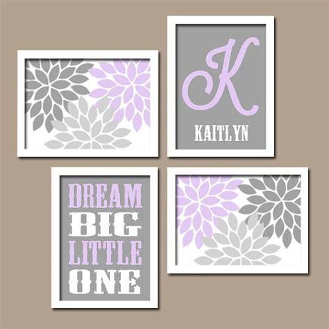 Purple Nursery Decor Lilac Gray Nursery Baby Wall Canvas Or Prints Flower Burst Bedroom Artwork