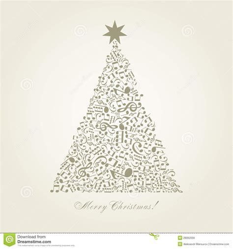 musical christmas tree stock vector image of vector