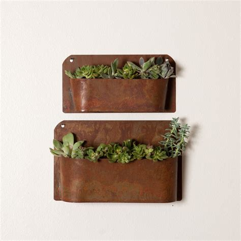 Wall Planter rustic wall planter magnolia market chip amp joanna gaines