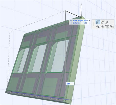 slanted curtain wall graphical editing of curtain wall help center archicad