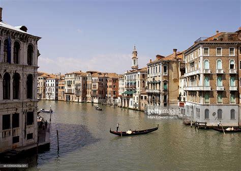 canal boat italy italy venice grand canal with boats and gondolas photo