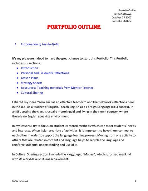 template for portfolio best photos of portfolio outline template professional