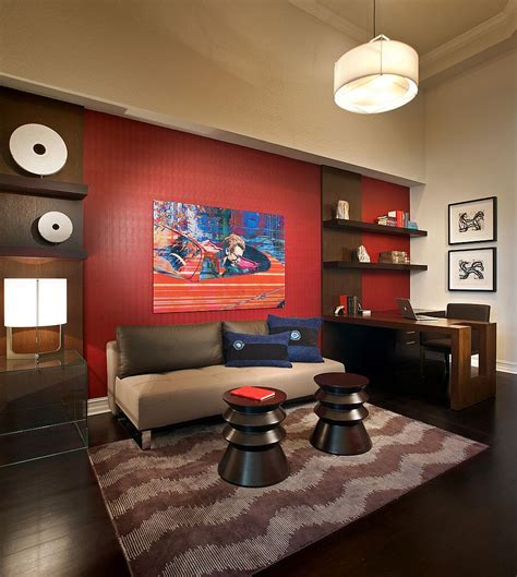 red accent wall 20 home offices that turn to red for energy and excitement