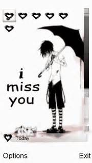 n73 themes love miss you download boy miss you nokia s60v5 theme nokia theme