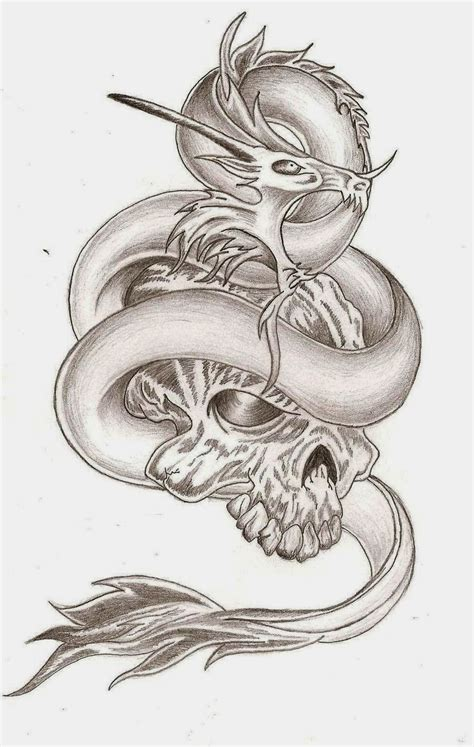 dragon skull tattoo tattoos book 2510 free printable stencils skulls