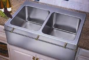 stainless steel farmhouse sink with towel bar culinary gourmet stainless steel kitchen sinks