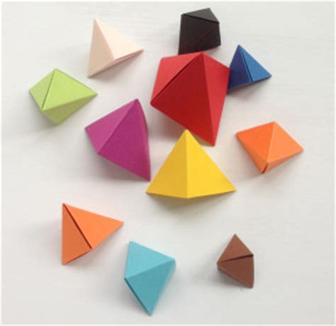 Paper Folding Toys - colorful origami bipyramid toys allfreepapercrafts