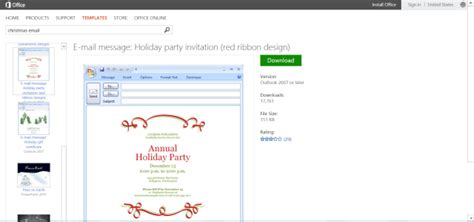 Christmas Party Email Invitations Cimvitation Outlook Email Invitation Templates Free
