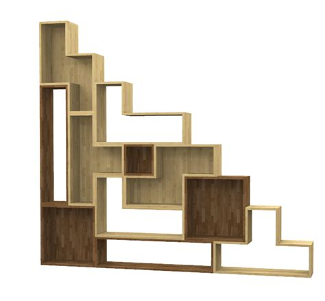 scaffale di legno scaffale tetris in legno massello