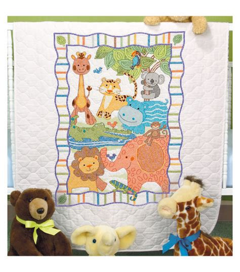 Dimensions Baby Quilt by Dimensions Baby Hugs Mod Zoo Quilt Sted Cross Stitch