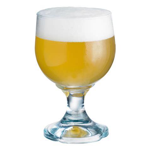 verre de verre 224 bi 232 re en verre transparent 224 pied set de 6 tavern durobor